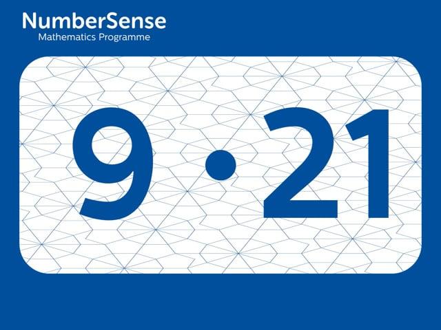 NumberSense Manipulating Numbers: Level 9, Task 21 (Gr.3, T.1, Wkbk 9)