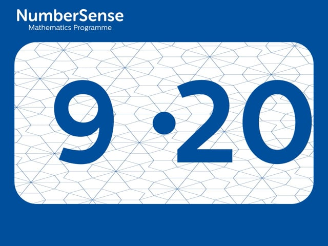 NumberSense Manipulating Numbers: Level 9, Task 20 (Gr.3, T.1, Wkbk 9)