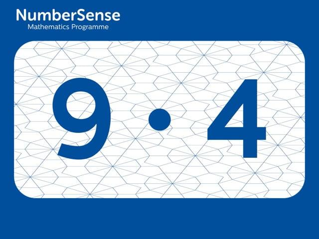 NumberSense Manipulating Numbers: Level 9, Task 4 (Gr.3, T.1, Wkbk 9)