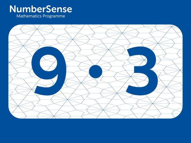 NumberSense Manipulating Numbers: Level 9, Task 3 (Gr.3, T.1, Wkbk 9)