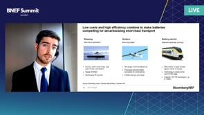 """Watch """"<h3>Presentation: Transport Decarbonization, the Next Phase: Planes, Trains and Ships by Tifenn Brandily, Associate, Energy Economics, BloombergNEF</h3>"""""""