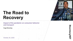 """Watch """"<h3>BNEF Talk: The Road to Recovery: Impact of the Pandemic on Transport and Consumer Behavior by Hugh Bromley, Lead Analyst, Consumer Insights, BloombergNEF</h3>"""""""