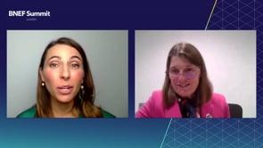 "Watch ""<h3>Rachel Maclean, Parliamentary Under Secretary of State, Department of Transport, UK interviewed by Dana Perkins, Summit Anchor, Head of EMEA, BloombergNEF</h3>"""