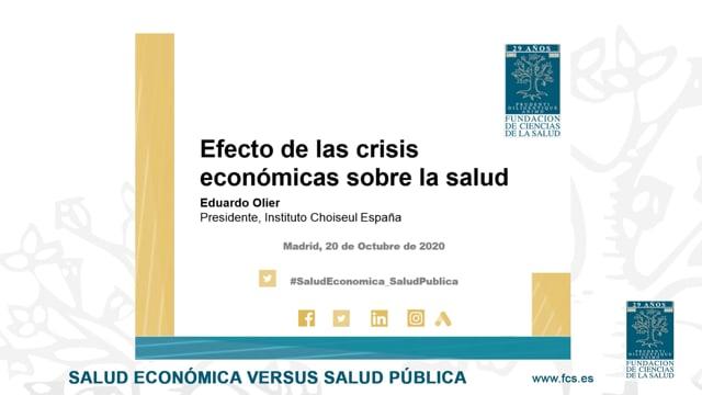 D. Eduardo Olier Presidente del Instituto Choiseul España
