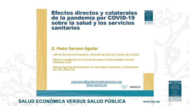 D. Pedro Guillermo Serrano - Jefe de Servicio de Evaluación en la Dirección del Servicio Canario de la Salud