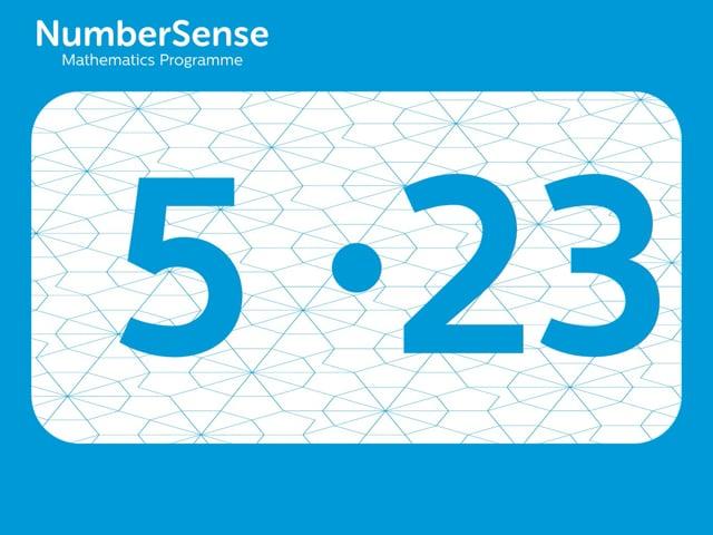 NumberSense Manipulating Numbers: Level 5, Task 23 (Gr.2, T.1, Wkbk 5)