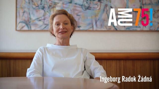 Ingeborg Radok Žádná na AMU působí jako prorektorka pro mezinárodní vztahy a uměleckou činnost a mimo to také vyučuje na Katedře hudební produkce HAMU. AMU přeje hlavně to, aby se v následujících letech těšila porozumění mezi studenty, pedagogy i zaměstnanci.
