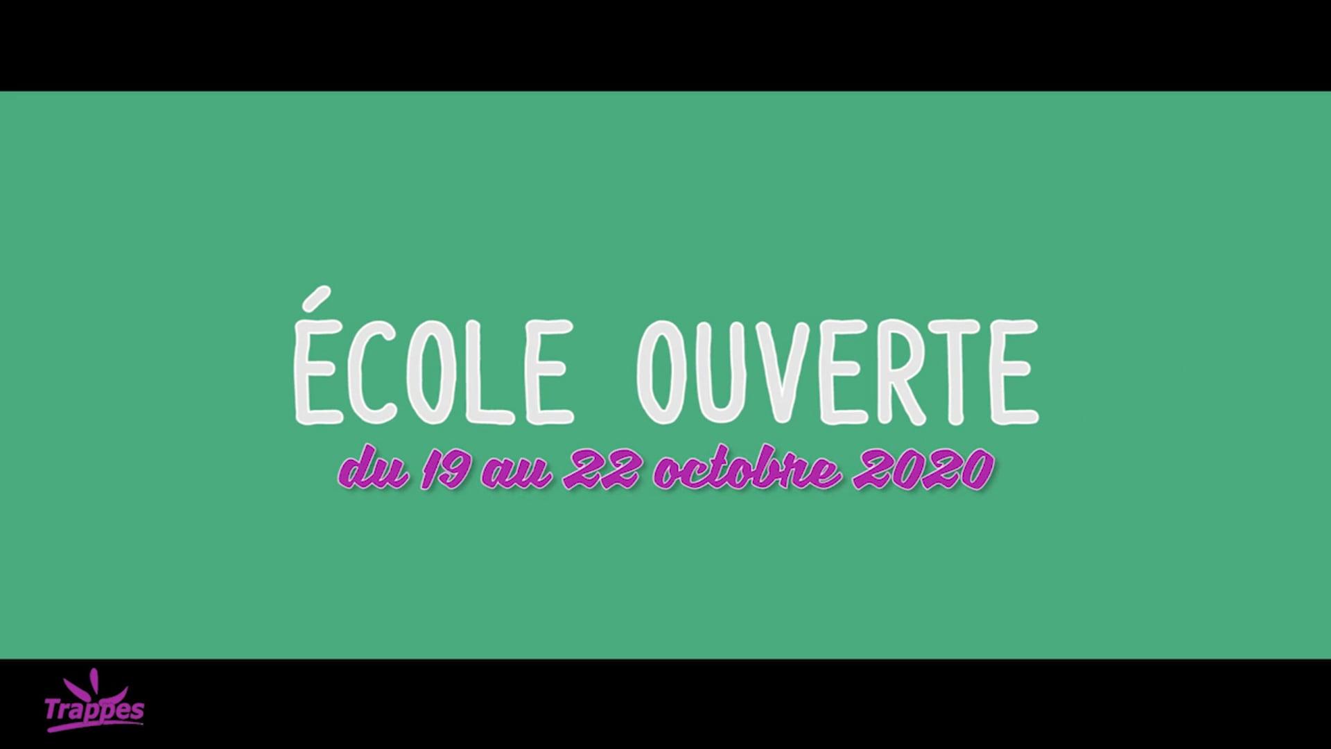 Ecole Ouverte - Octobre 2020 - Ville de Trappes