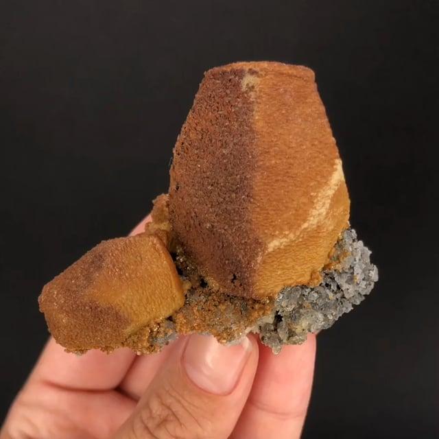 Siderite, Sphalerite cast after Calcite