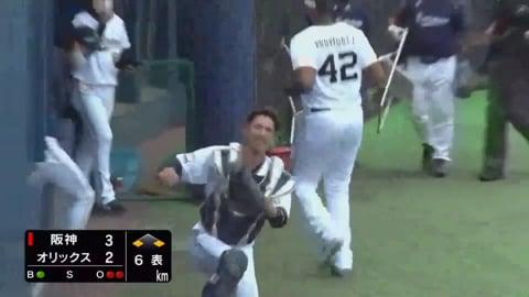 【ファーム】バファローズ・フェリペがベンチ前の難しい打球をナイスキャッチ!! 2020/10/22 B-T(ファーム)