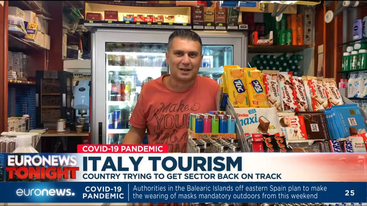 Declines in tourism lead to drops in economic activity in Italy