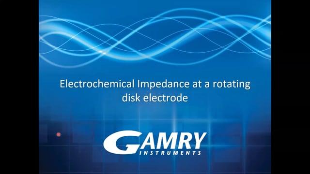 EIS At Rotating Disk Electrode