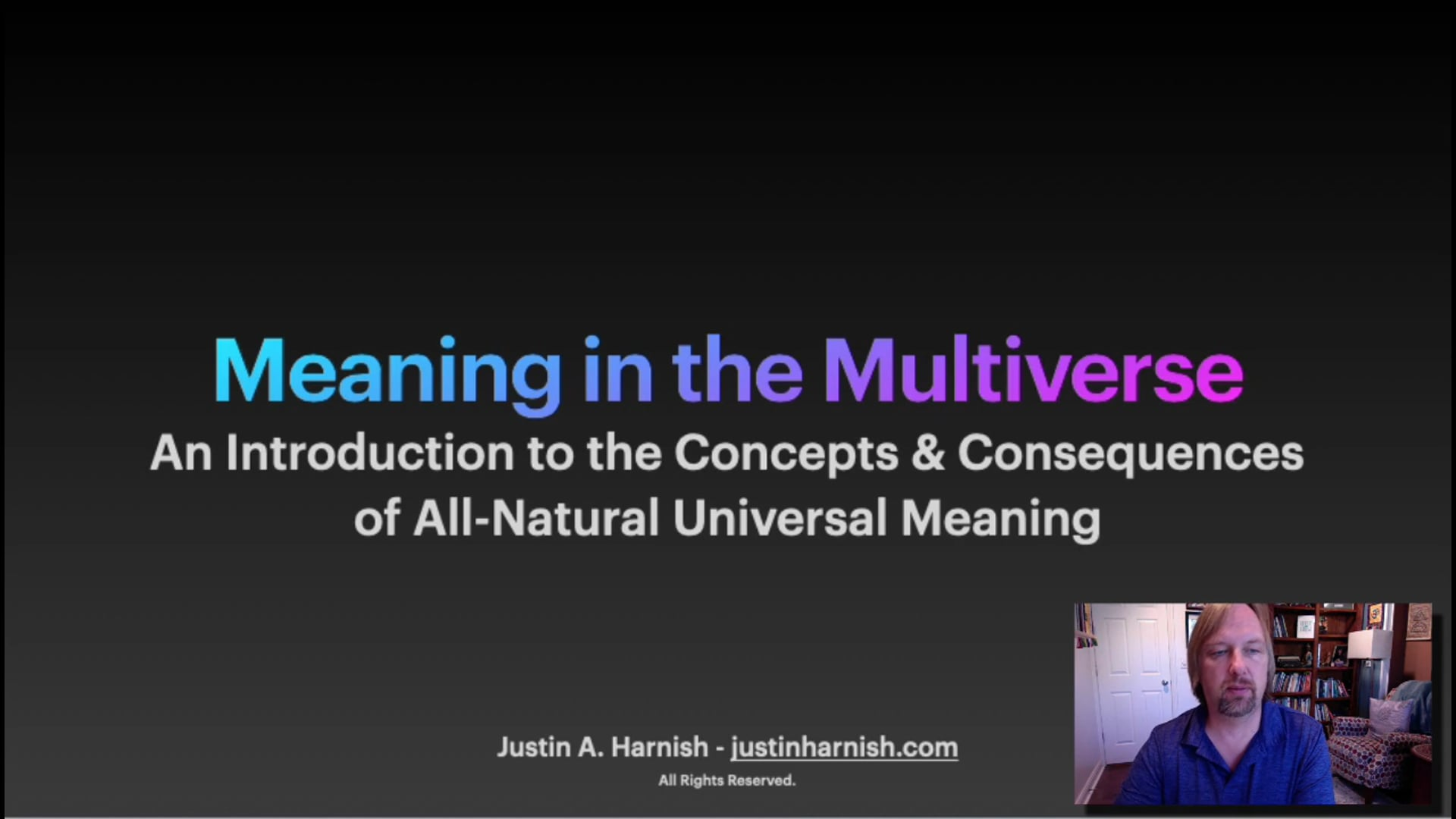 Meaning in the Multiverse - Introductory Trailer (Book published in Winter 2020)