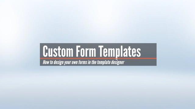 Custom Template Design