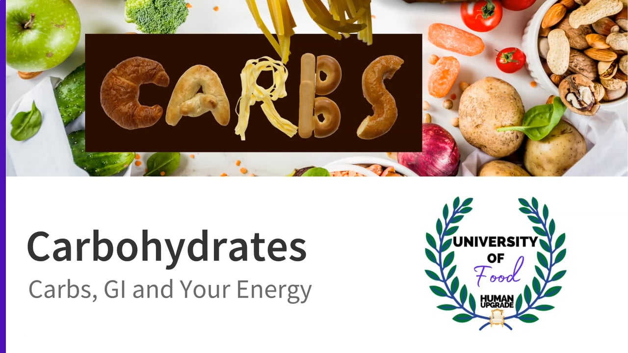 University of Food: Lecture 3 Carbohydrates