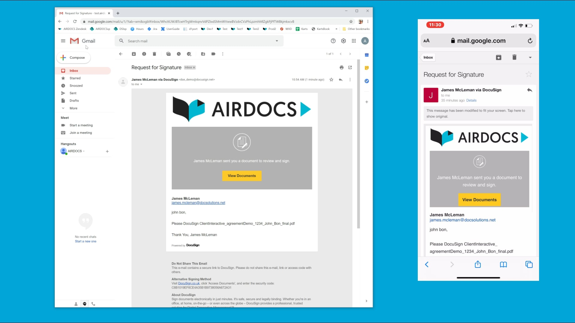 Airdocs Clever Agreements Demo