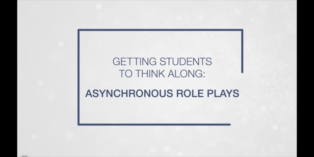 Asynchronous Role Plays