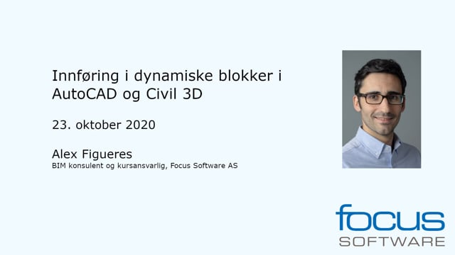 Innføring i dynamiske blokker i AutoCAD og Civil 3D