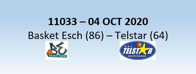 N1H 11033 Basket Esch (86) - Telstar Hesper (64) 04/10/2020