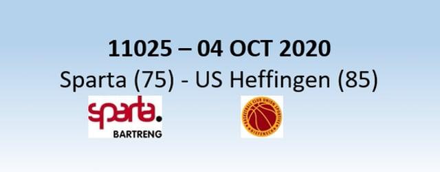N1H 11025 Sparta Bertrange (75) - US Heffingen (85) 04/10/2020