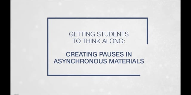Creating Pauses in Asynchronous Materials
