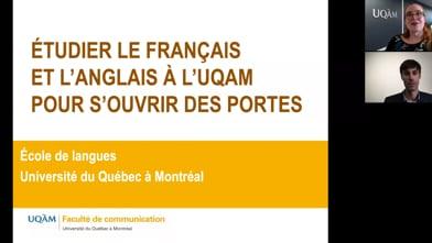 Étudier le français et l'anglais à l'UQAM pour s'ouvrir des portes