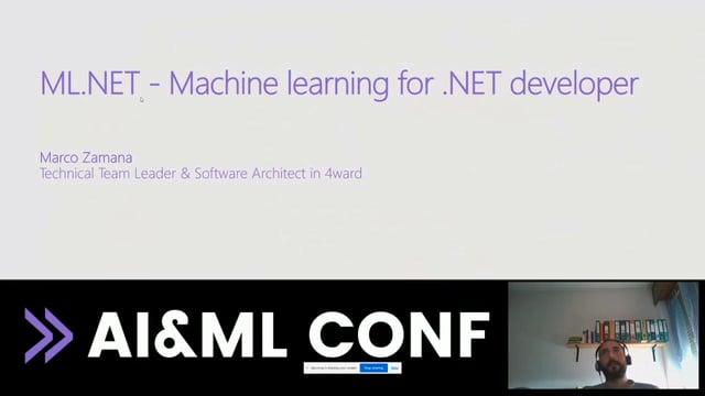 ML.NET - Machine learning for .NET developers