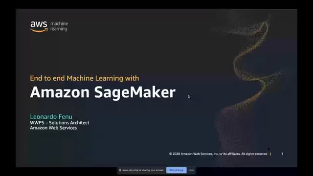 End-to-end Machine Learning with Amazon SageMaker