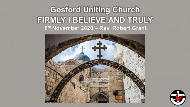 8th November 2020 - Rev. Robert Grant