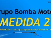 Grupo Bomba Motor MEDIDA 2 para lavado de camiones de tecowash