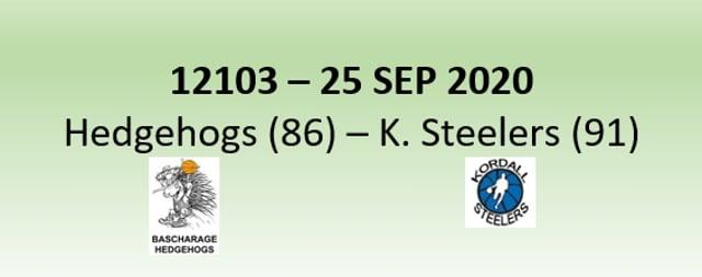 N2H 12103 Bascharage Hedgehogs (86) - Kordall Steelers (91) 25/09/2020