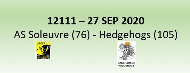 N2H 12111 AS Soleuvre (76) - Bascharage Hedgehogs (105) 27/09/2020