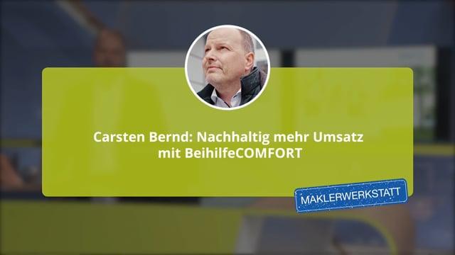 Carsten Bernd: Nachhaltig mehr Umsatz mit Beihilfe Comfort