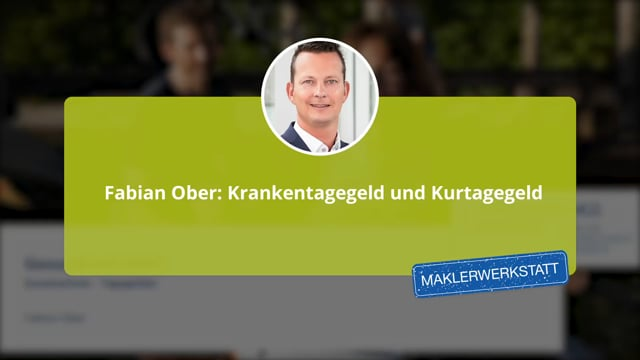 Fabian Ober: Krankentagegeld und Kurtagegeld