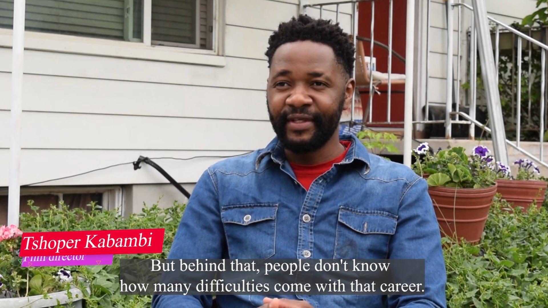 Tshoper Kabambi introduces his filmmaking work