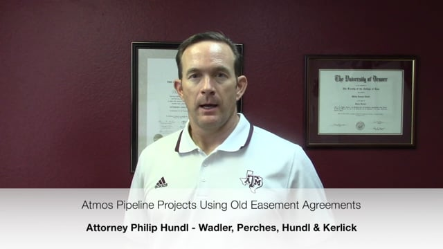 Atmos Pipeline Projects Using Old Easement Agreements - Landowner Rights Attorney