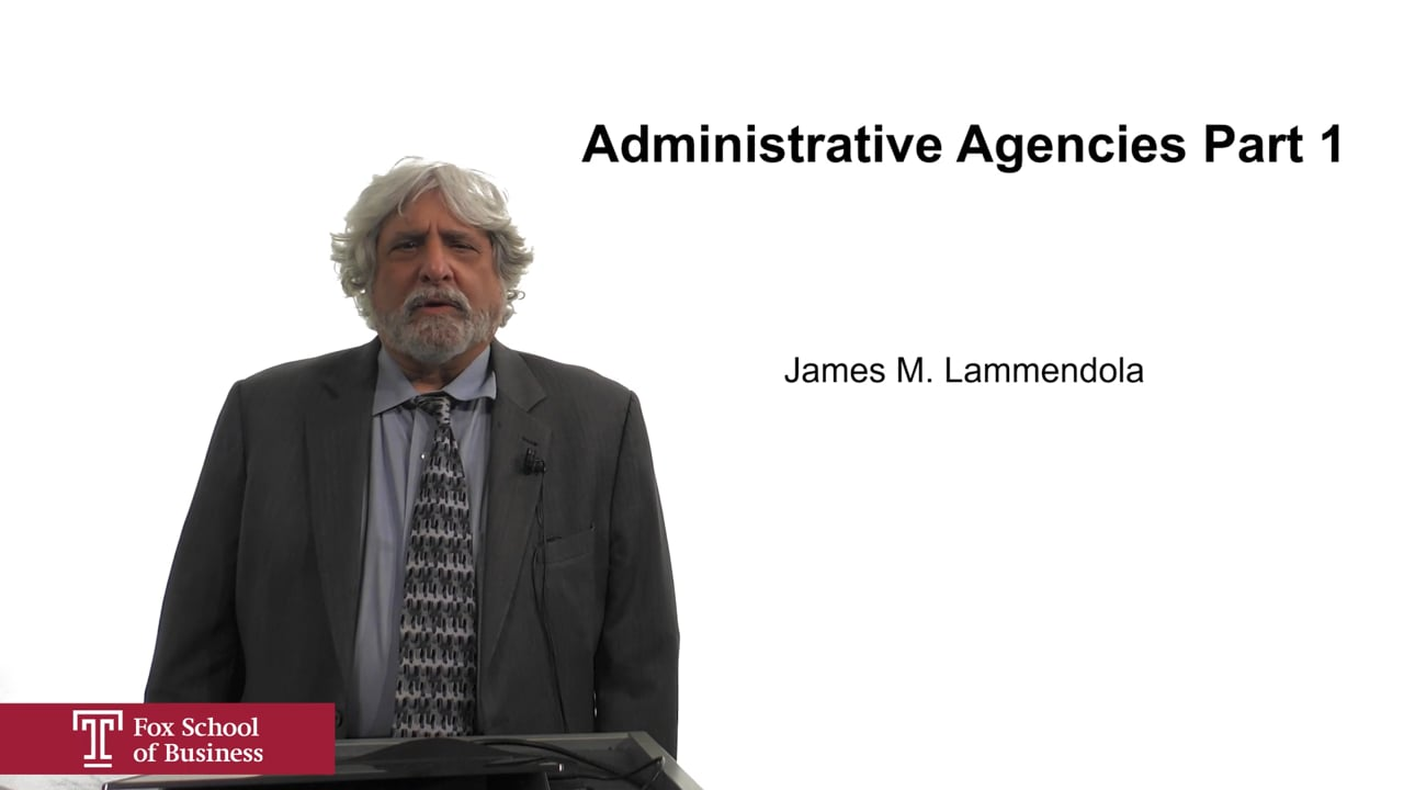 61938Administrative Agencies Part 1