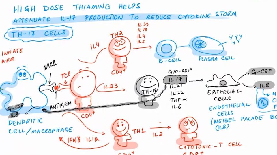 High Dose Thiamine And Cytokine Storm