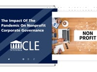 Goldstein Discusses Impact of Pandemic on Nonprofit Corporate Governance