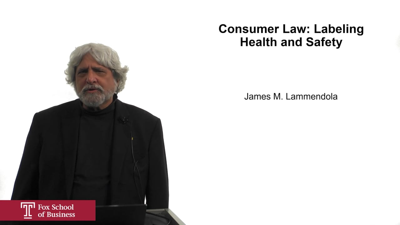 61941Consumer Law: Labeling Health and Safety