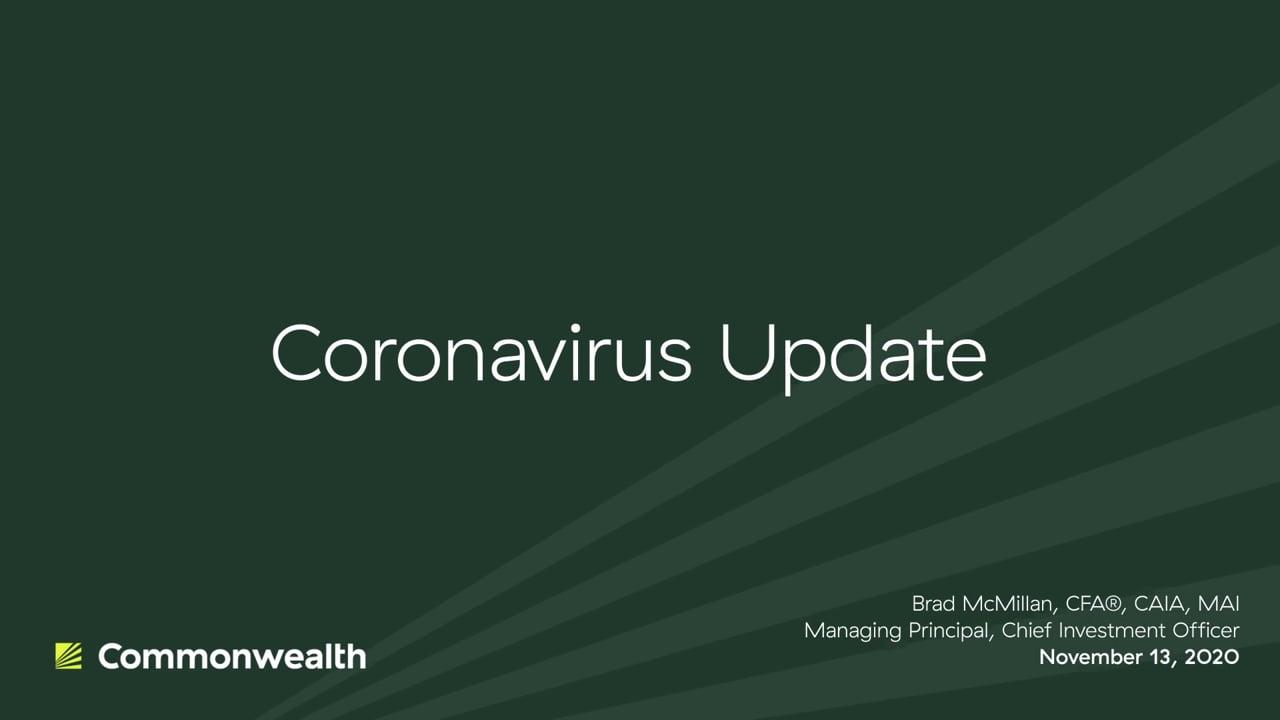 Coronavirus Update from Commonwealth CIO Brad McMillan, November 13, 2020