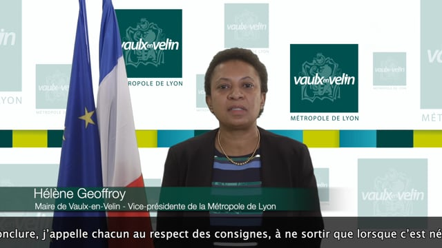 Message aux Vaudais d'Hélène Geoffroy – 13 novembre 2020