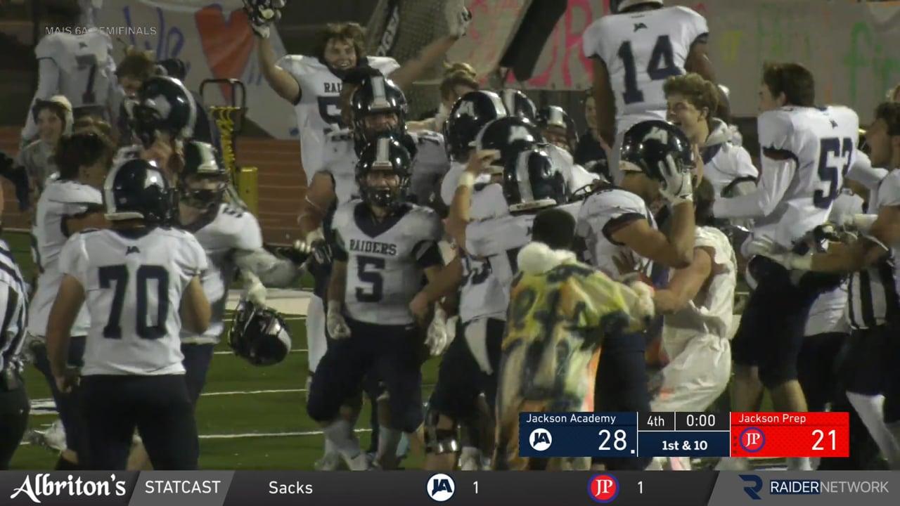 Varsity Football-2020- Prep - 6A Semis