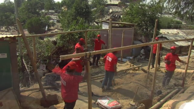 More stable accommodation for Rohingya refugees