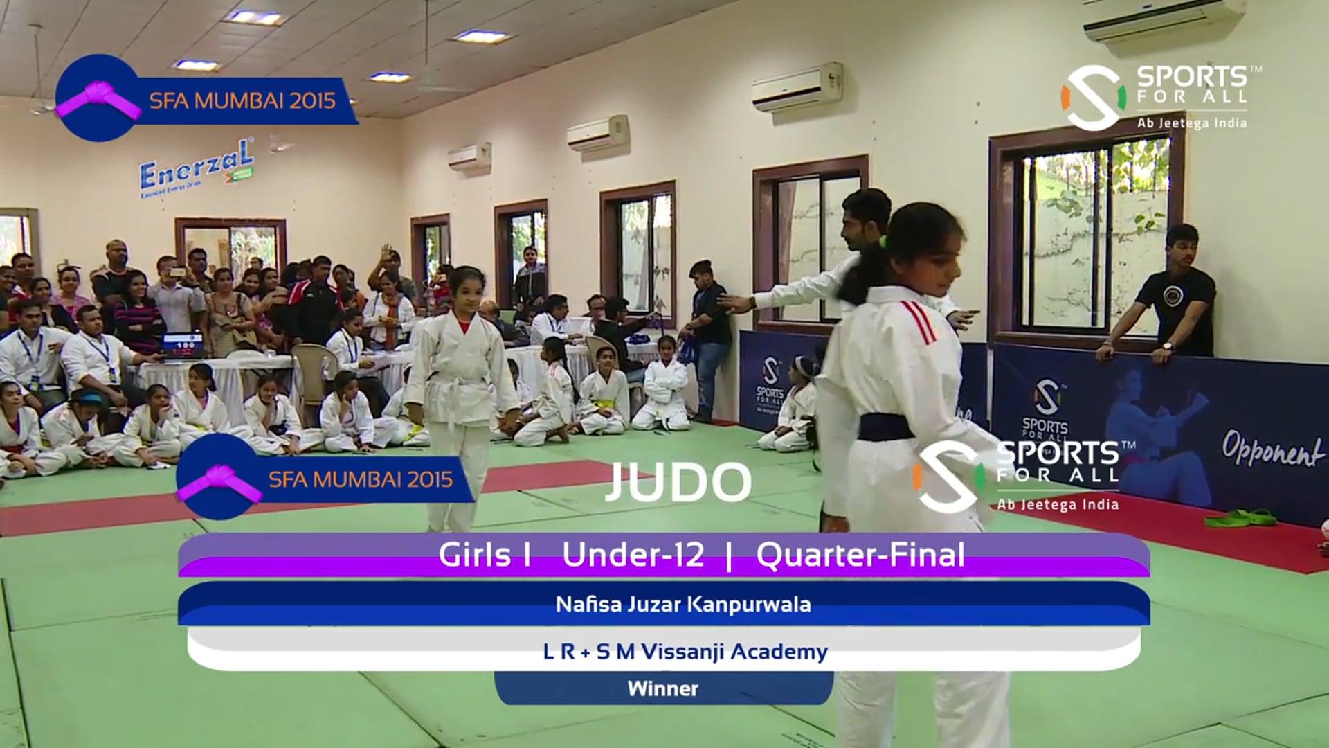 SFA Mumbai 2015   Judo   N J Kanpurwala Vs Madlani Isha Bharat   Girls   U-12   -37Kg   QF