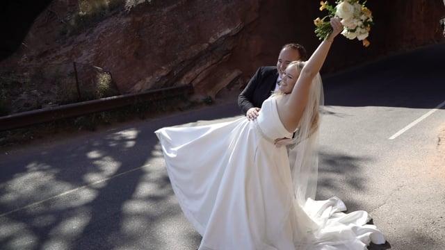 Ashlyn + Nathan Wedding Celebration Highlights - RedRocks Golden - CO