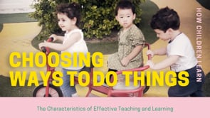 Watch Creating and thinking critically - choosing ways to do things