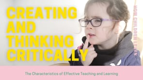 Watch Creating and thinking critically - Introduction
