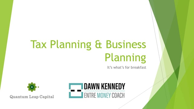 Year End Tax & Business Planning
