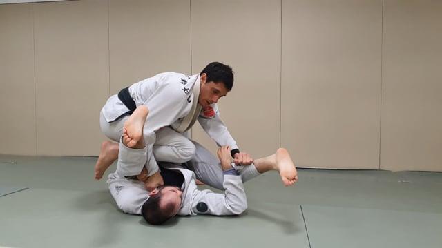 Passage de demi lasso en tassant l'adversaire